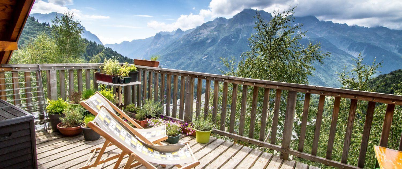 Fietshotel Alpe d'Huez Uitzicht