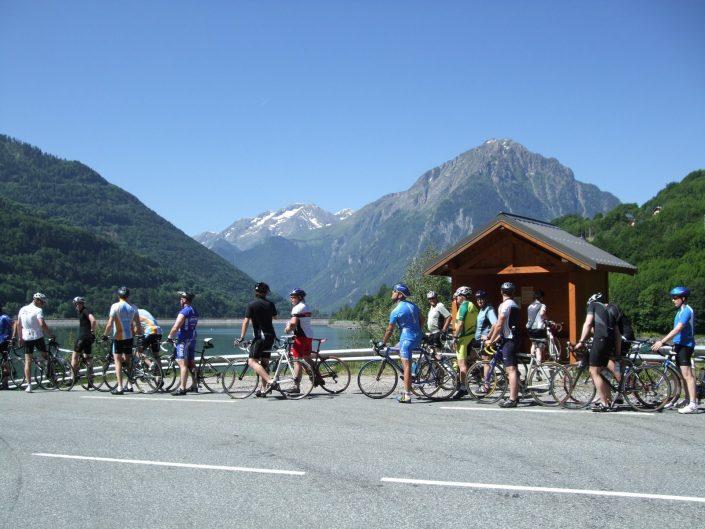 Groep bij de Alpe d'Huez