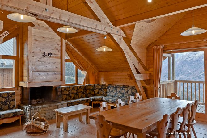 Woonkamer chalet Chamois