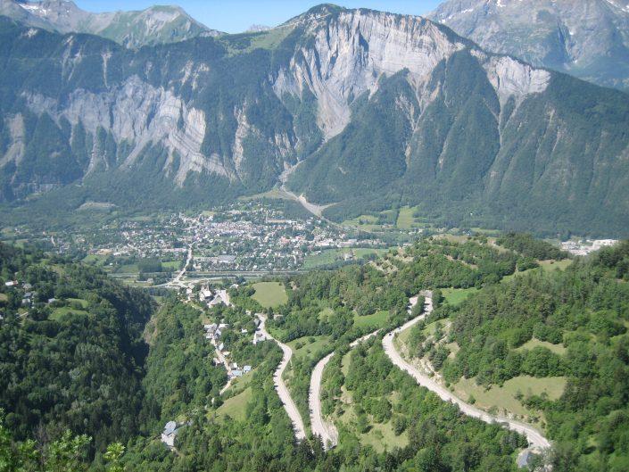 uitzicht Alpe d'HUez Chalet Beyond