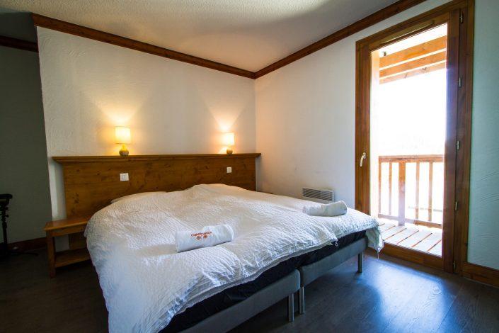 Chalet Beyond Fietshotel Alpe d'Huez slaapkamer