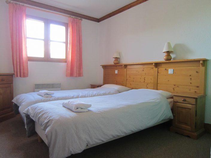 slaapkamer chalet Cerf