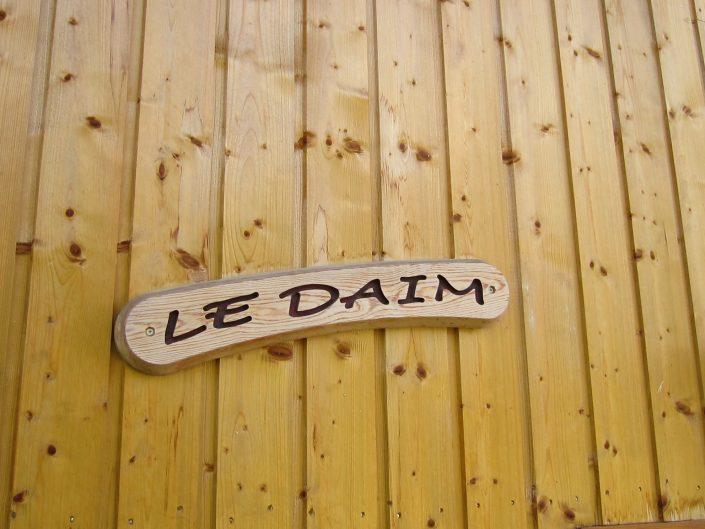 naam plaatje chalet Daim