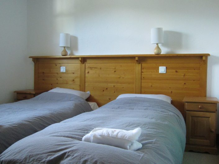slaapkamer chalet Daim